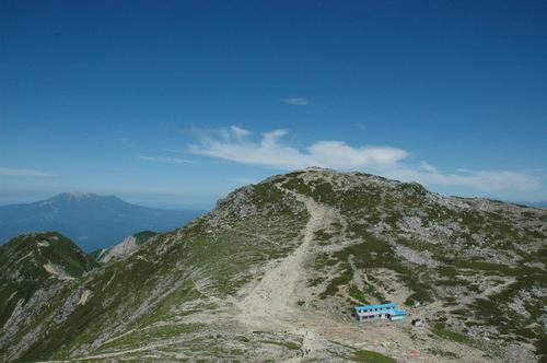 中岳からの駒ケ岳山頂
