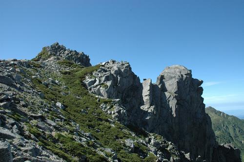 宝剣岳登頂開始