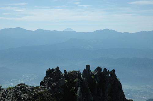 宝剣岳山頂からの富士山