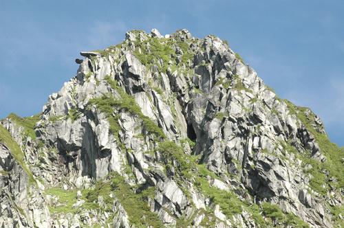 宝剣岳山頂アップ