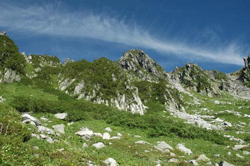 千畳敷カールからの宝剣岳
